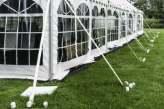 ****20' x 7' or 8' Cathedral-Window Tent Sidewall SuperSale (Premium Commercial Quality White 13 Oz. w/ blockout & 20 Gauge Clear Windows )