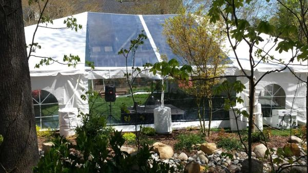 ****20' x 9' Clear Tent Sidewall SuperSale (Heavy Duty Supreme Commercial Quality 20 Gauge)