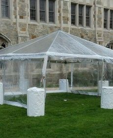 ****10' x 12' Clear Tent Sidewall SuperSale (Heavy Duty Supreme Commercial Quality 20 Gauge)
