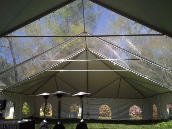 ****10' x 10' Cathedral-Window Tent Sidewall SuperSale (Premium Commercial Quality White 13 Oz. w/ blockout & 20 Gauge Clear Windows )