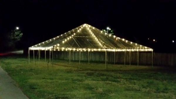 ***50' x 50' Frame Tent (Single & Twin Tube Hybrid Aluminum)