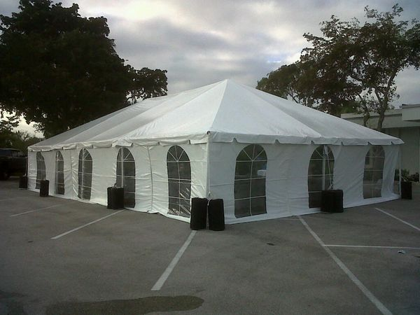 ****30' x 50' Frame Tent (Single & Twin Tube Hybrid Aluminum) (Variety of Colors in 3 or 4-Piece)