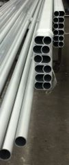 112 inch long (2 inch O.D.) anodized aluminum tube/pipe for 30 & 40 wide.