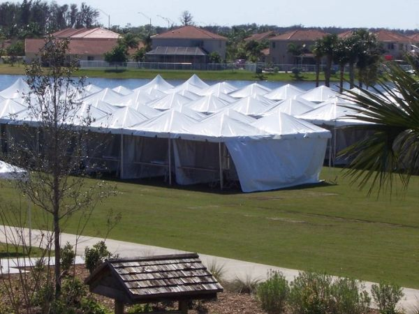 ****10' x 10' Disaster Relief Frame Tent / Shelter Package SuperSale (Single Tube Aluminum)