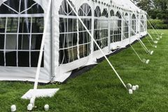 $**30' x 90' Disaster Relief Frame Tent / Shelter Package (Single & Twin Tube Hybrid Aluminum)