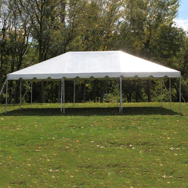 ****20' x 30' Frame Tent SuperSale (Single-Tube Galvanized Steel) (Variety of Colors in 1 and 3-Piece)