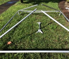 173 inch long (1-3/4 inch O.D.) Anodized Aluminum Tube/Pipe for 15' and 20' Wide Frame Tents