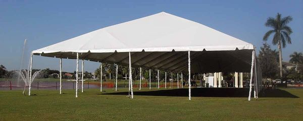 ***50' x 100' Disaster Relief Frame Tent / Shelter Package (Single & Twin Tube Hybrid Aluminum)