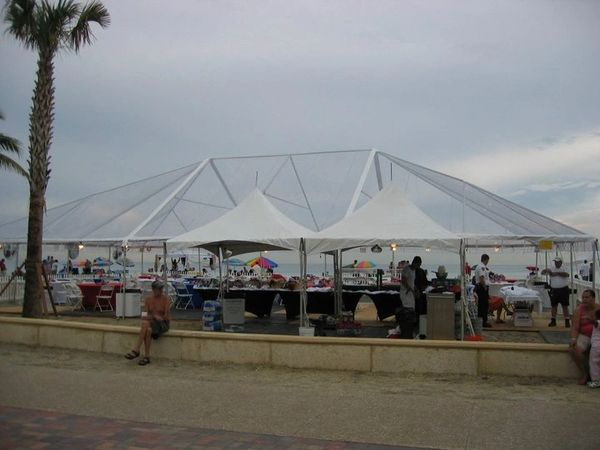 30' x 80' Frame Tent (Single & Twin Tube Hybrid Aluminum) (Variety of Colors in 4, 5, 6, or 7-Piece)