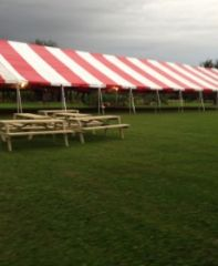 **20' x 100' Frame Tent SuperSale (Single Tube Aluminum) (Variety of Colors in 6, 7, 8, 9, 0r 10-Piece)