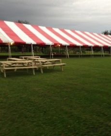 ****20' x 100' Frame Tent SuperSale (Single Tube Aluminum) (Variety of Colors in 6, 7, 8, 9, 0r 10-Piece)