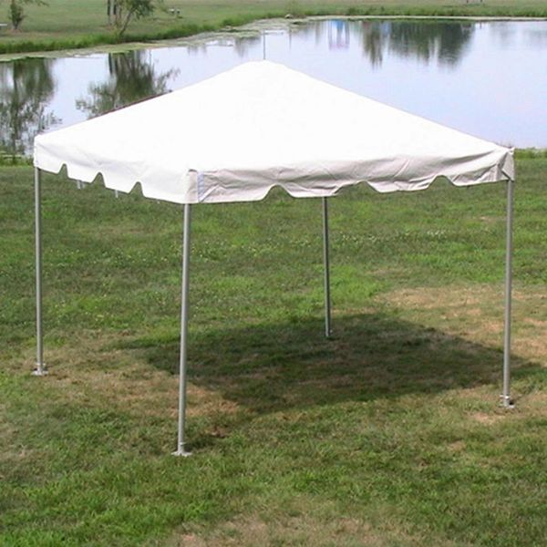 ****10' x 10' Frame Tent SuperSale (Single Tube Galvanized Steel) (Variety of Colors in 1 and 2-Piece)