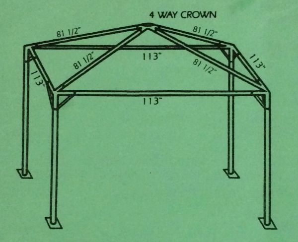 ****8' x 8' Portable Greenhouse Shade Structure SuperSale (Single Tube Aluminum) (Variety of Colors & Fabrics in 1 or 2-Piece 5 to 100% Vinyl Blockout, Translucent, or Mesh)