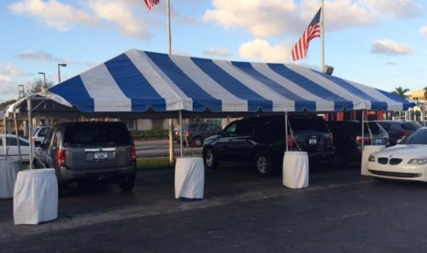 ***20' x 40' Portable Carport Structure SuperSale (Single Tube Aluminum) (Variety of Colors & Fabrics in 1, 3, or 4-Piece (5 to 100% Shade Blockout, Translucent, or Mesh))