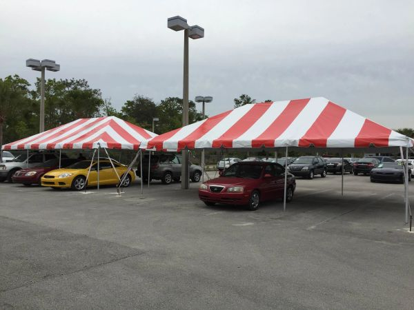 ***20' x 30' Portable Carport Structure SuperSale (Single Tube Aluminum) (Variety of Colors & Fabrics in 1 or 3-Piece 5 to 100% Shade Blockout, Translucent, or Mesh)