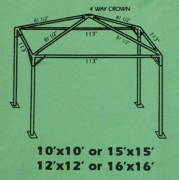 ****15' x 15' Portable Carport Structure SuperSale (Single Tube Aluminum) (Variety of Colors & Fabrics in 1 or 2-Piece 5 to 100% Blockout, Translucent, or Mesh)