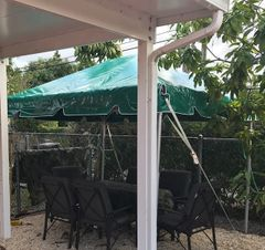 ***8' x 8' Portable Patio Shade Structure SuperSale (Single Tube Aluminum) (Variety of Colors & Fabrics in 1 or 2-Piece 5 to 100% Vinyl Blockout, Translucent, or Mesh)