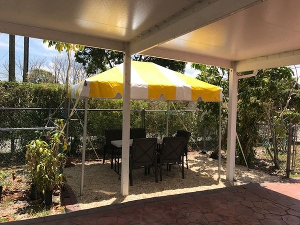 ****8' x 10' Portable Patio Shade Structure SuperSale (Single Tube Aluminum) (Variety of Colors & Fabrics in 1-Piece 5 to 100% Vinyl Blockout, Translucent, or Mesh)