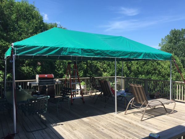 ****8' x 20' Portable Patio Shade Structure SuperSale (Single Tube Aluminum) (Variety of Colors & Fabrics in 1 or 3-Piece 5 to 100% Shade Blockout, Translucent, or Mesh)