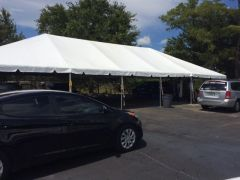 ***20' x 50' Portable Patio Shade Structure SuperSale (Single Tube Aluminum) (Variety of Colors & Fabrics in 1, 3, 4, or 5-Piece (5 to 100% Shade Blockout, Translucent, or Mesh))