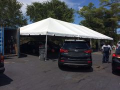 ***15' x 20' Portable Carport Structure SuperSale (Single Tube Aluminum) (Variety of Colors & Fabrics in 1 or 3-Piece 5 to 100% Shade Blockout, Translucent, or Mesh)