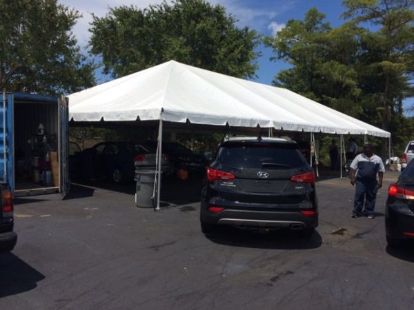 ****15' x 20' Portable Carport Structure SuperSale (Single Tube Aluminum) (Variety of Colors & Fabrics in 1 or 3-Piece 5 to 100% Shade Blockout, Translucent, or Mesh)