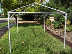 ***10' x 15' Portable Carport Structure SuperSale (Single Tube Aluminum) (Variety of Colors & Fabrics in 1-Piece 5 to 100% Vinyl Blockout, Translucent, or Mesh)