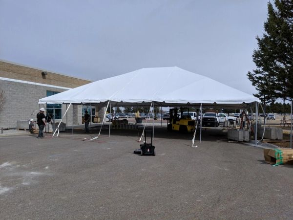 ****30' x 50' Frame Tent SuperSale (Single Tube Aluminum) (Variety of Colors in 1, 3, and 4-Piece)