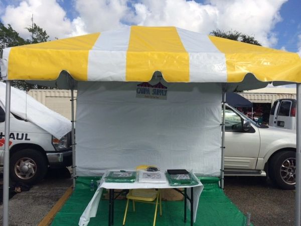 ****8' x 10' Curb-Side Pick-Up Frame Tent (Single Tube Aluminum) (Variety of Colors in 1 or 2-Piece)
