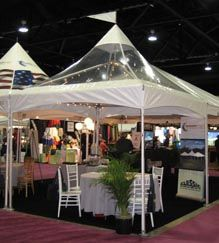 ****10' x 10' Clear High-Peak Frame Tent (Dining-Elegance Edition)