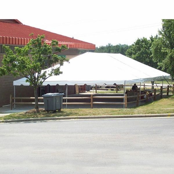 ***30' x 60' Frame Tent SuperSale (Single & Twin Tube Hybrid Aluminum) (Heavy-Duty White 18 Oz. 4-Piece)