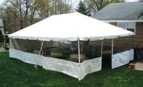 30' x 7' or 8' Screen-Style Tent Sidewall
