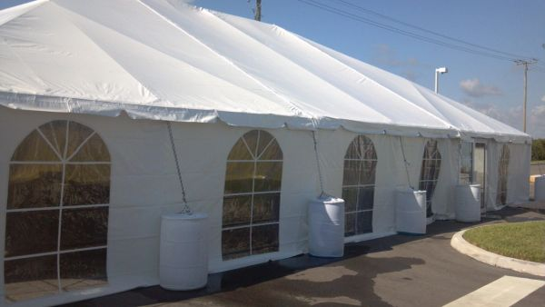 **30' x 100' Frame Tent SuperSale (Heavy-Duty White 18 Oz. 6-Piece) (Single & Twin Tube Hybrid Aluminum)