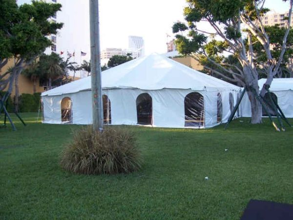 *40' x 50' Frame Tent Heavy-Duty 18 Oz. (Single & Twin Tube Hybrid Aluminum) (Variety of Colors in 3-Piece)