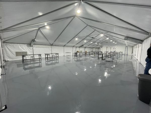 *40' x 100' Used Frame Tent SuperSale for Miami-Dade or Broward County Customer (Single & Twin Tube Hybrid Aluminum)