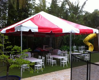 ****8' x 20' Frame Tent SuperSale (Single Tube Aluminum) (Variety of Colors in 1 or 3-Piece)