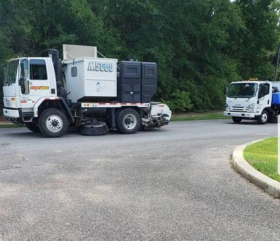 street sweeping street sweeper vacuum truck sweeping parking lot