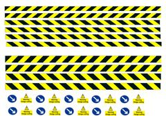 DEC03 Self-adhesive hedge cutter set yellow decals 1:32 Scale by HLT
