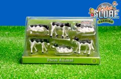 571974 Set of 6 Friesian Calves 1:32 Scale by Kids Globe