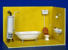 PLM189 Bathroom, toilet and wash basin Kit in 1:32/1:35 scale by Plusmodel