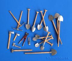 PLM192 Sapper Tools Unpainted Kit in 1:32/1:35 scale by Plusmodel