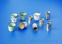 PLM4029 Buckets and Cans Kit in 1:48 scale by Plusmodel