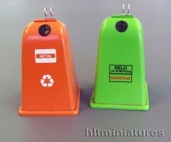 PLM435 Recycling Waste Container Bins in 1:32/1:35 scale by Plusmodel