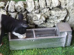 Water Trough with Water 1:32 Scale by HLT WM038W (QUANTITY DISCOUNT AVAILABLE!)
