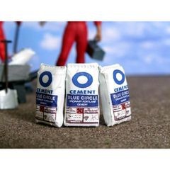 WM004 3 x Cement Sacks 1:32 Scale by HLT Miniatures