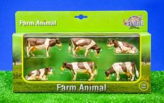 570010 Pack of 6 Ayrshire Cows 1:32 Scale by Kids Globe