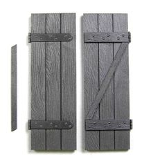 2 x Packs Wood Shutters to fit Window FB400 1:32/1:35 Scale FB420