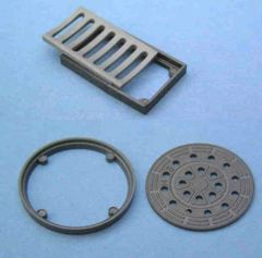 Drainage Manhole Cover and Drain Set 1:32/1:35 Scale FB750/FB760