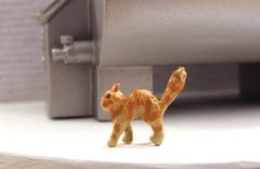 Spiteful Cat Black/Ginger/Tortoiseshell 1:32 Scale by HLT Miniatures WMA02