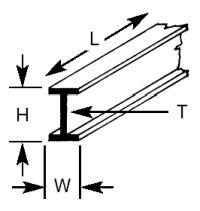 BFS-2 Plastruct - I Beam 1.6mm
